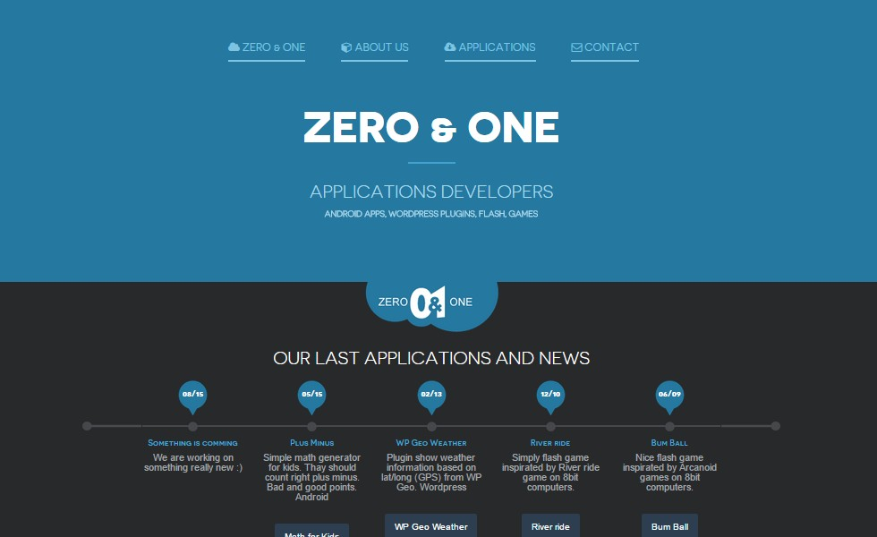 Zero & One Applications Developer